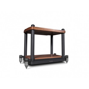 Wharfedale Elysian Center Stand-wallnut-front-side